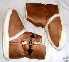 LOVELY NEW SNUGG COSY BOOTEE TOGGLE SLIPPERS UK 3/4