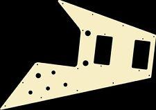 Pickguard Pick Guard Scratchplate Gibson Flying V Guitar Ivory Acrylic Free Ship