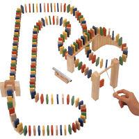 Wooden Domino Rally 200 Piece Set Game Fun Kids Family Adult Indoor Outdoor 0435