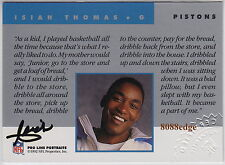 1992 PRO LINE NFL FOOTBALL AUTO: ISIAH THOMAS -ON CARD AUTOGRAPH PISTONS MVP HOF
