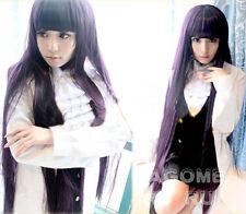 Inu x Boku SS Shirakiin Ririchiyo purple Cosplay wig 100cm +wig cap