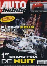 AUTO HEBDO n°1667 du 24 Septembre 2008 GP SINGAPOUR TWINGO RS MONDIAL PARIS