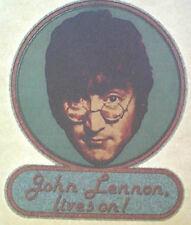JOHN LENNON T SHIRT IRON ON HEAT TRANSFER VINTAGE BEATLES SOLO GLITTER RARE