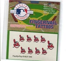 MLB Fingernail Tattoos Cleveland Indians