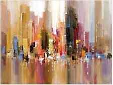 City Spree Canvas Wall Art Large Wood Frame Contemporary Home Modern Decor Print