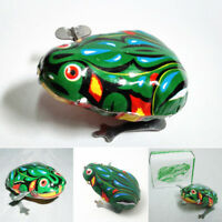 Kids Classic Tin Wind Up Clockwork Toys Jumping Frog Vintage Toy For Children