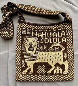 Antique Vintage Men's Wool Handwoven Nahuala Morral/Bag Textile from Guatemala