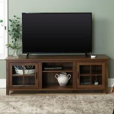 "Walker Edison 70"" Farmhouse Wood TV Stand - Dark Walnut New"