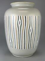 70er Jahre Vase Keramikvase Bodenvase Blumenvase Keramik Grau Bunt Space Age 60s