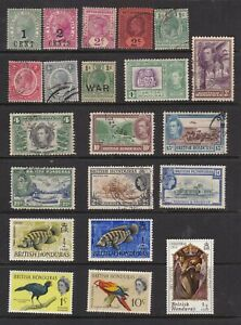 British Honduras Small Useful Selection Mint and Used