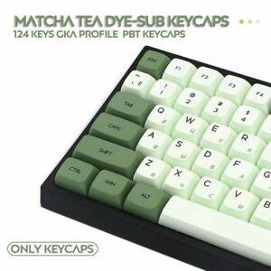 PBT Matcha Green Theme Keycap XDA Profile 124 Key Set For MX Japan Korea Russia