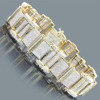 "14K Yellow Gold Over 5.00 CT Round VVS1 Diamond Tennis Bracelet 7.25"" inch"