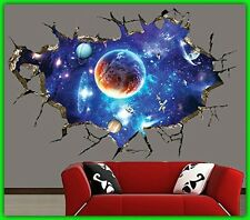 DIY Ceiling Sticker 3D Wall Space Decal Mural Art Kid Room Outer Space Removable