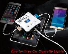 Car Cigarette Lighter Splitter with 4 USB 3 Cigarette Lighter Holes Charger 12V