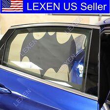 2X BATMAN CAR WINDOW SUN BLOCK SHADE Static Cling Tint for Baby Protection d
