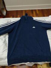 Adidas Men's Essentials 3-Stripe Pullover Fleece Hoodie - Medium Gray/Black XL