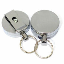 Retractable Key Chain Ring Recoil Keyring Heavy Duty Stainless Cord,Wire St R8N0