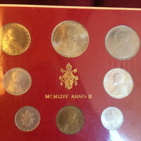 🇻🇦  Vatican City Uncirculated 8 coin Lire Set of 1964- Pope VI - Papal States