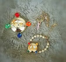 Sailor Moon Pretty Guardians Fan Club Special Gift Set Lip Gloss Necklace Watch