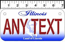 PERSONALIZED ALUMINUM MOTORCYCLE STATE LICENSE PLATE-ILLINOIS