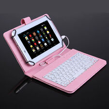 Micro USB Keyboard Case PU Leather Stand Flip Cover for 7 inch Android Tablet PC