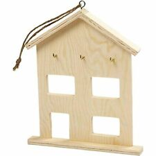 Simple ply wood hanging key hook WC532 storage art craft