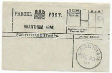 1903 GRANTHAM (GM) Lincolnshire Parcel Post Label charged 9d