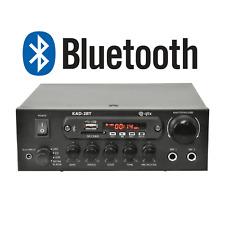 QTX KAD-2BT 55W Bluetooth Stereo Amplifier FM Tuner, USB, SD, Aux, Mic Input