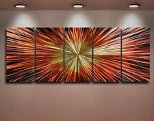 Metal Modern Abstract Wall Art Original painting Large Contemporary explosion