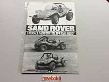 Vintage Tamiya Sand Rover Buggy Instruction Manual, Rare, Used.