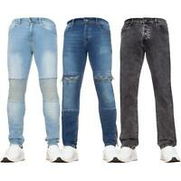 Mens Super Skinny Fit Stretch Jeans All Waist Sizes Biker Designer Denim Pants