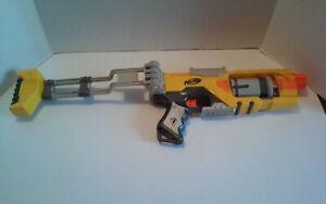 Nerf N Strike Spectre Rev-5 Soft Dart Blaster Gun Revolver Yellow Gray Tested