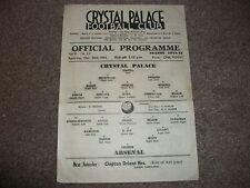 CRYSTAL PALACE  v ARSENAL  October 28th  1944/5