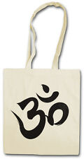 OM Sign Hipster BAG-BORSA TESSUTO STOFFA sacchetto-Buddha Buddhism Buddismo lama