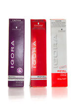 3 x Schwarzkopf Igora Royal Permanent Hair Colour 60g
