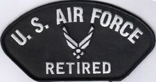 2 Pcs US AIR FORCE RETIRED (B) Embroidered Patches 2.75