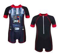Official Boys Star Wars Swimsuit Wetsuit Surf UV UPF 50+ Sunsafe Swimwear 2-5Y