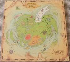 "ADVENTURE TIME - 15""x15"" Original Promo TV Poster SDCC 2012 MINT Treasure Map"