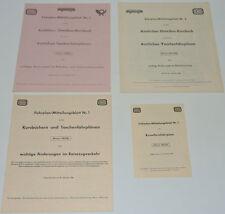 4 DB-Fahrplan-Mitteilungsblätter Winter 1967/68