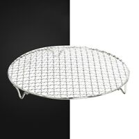 AU_ Stainless Steel Round Steaming Cooking Grilling Rack for Air Frying Pot Usef