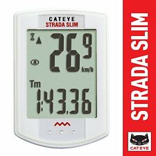 CatEye Wireless Cycling Computer Strada Slim (White / One Size)