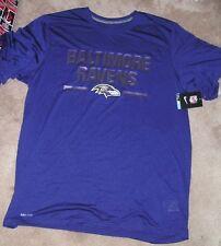 NEW NFL Baltimore Ravens NIKE Chisled T Shirt Men XL X-Large Dri Fit NEW NWT