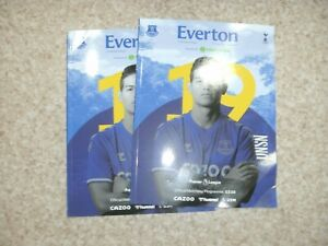 EVERTON  v  TOTTENHAM   17/4/2021 OFFICIAL   PROGRAMME   ( WITH CREASES )