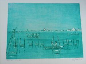 Umberto Ilfiore (Venice 1914 Bassano Of Grappa 2003) Etching Coloured 1984