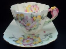 "Star Paragon ""Apple Blossom"" Cup & Saucer  Blossom Handle Ca 1913-1919"