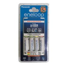 Panasonic Eneloop AA AAA NiMH QUICK CHARGER + 4 AA's - 2100 Charges