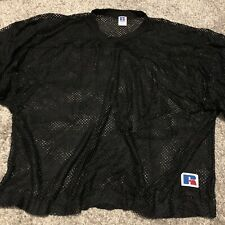 New Vintage Russell Athletic Blank Sports Jersey Black Mesh Nos Sz. Xl