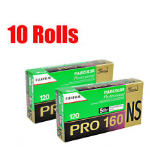 10 Rolls Fuji Fujifilm Pro 160NS 120 Color Print Professional Film Fresh 12/2020