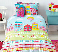 Cubby House Kids Lovely Lane Aqua Reversible DOUBLE Size Quilt Doona Cover Set