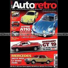AUTO RETRO N°306 CITROËN DS GT 19 BOSSAERT ALPINE A110 BMW ISETTA ESCORT RS 2000